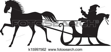 Horse drawn sleigh Clipart Vector Graphics. 21 horse drawn sleigh.