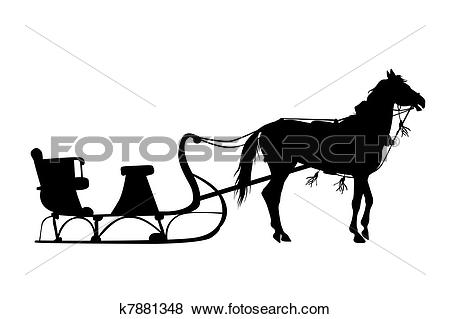 Horse drawn sleigh Illustrations and Stock Art. 18 horse drawn.