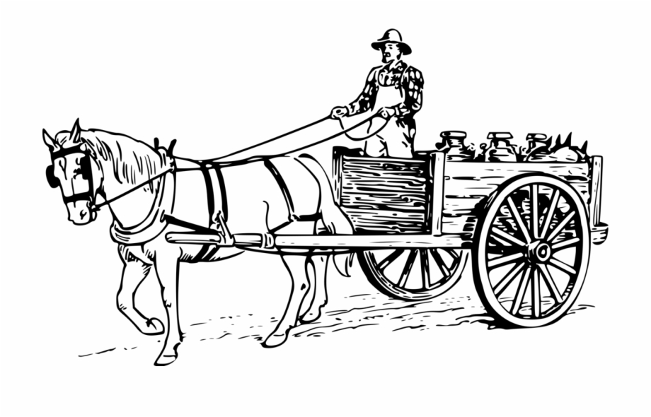Horse Drawn Wagon Png.