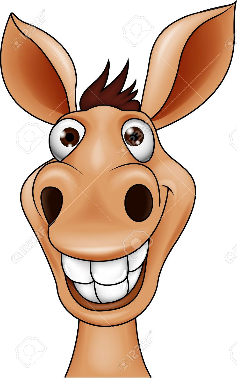 Smiling Donkey Head Royalty Free Cliparts, Vectors, And Stock.