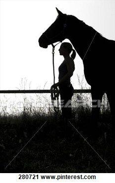 Horse & Girl Running.