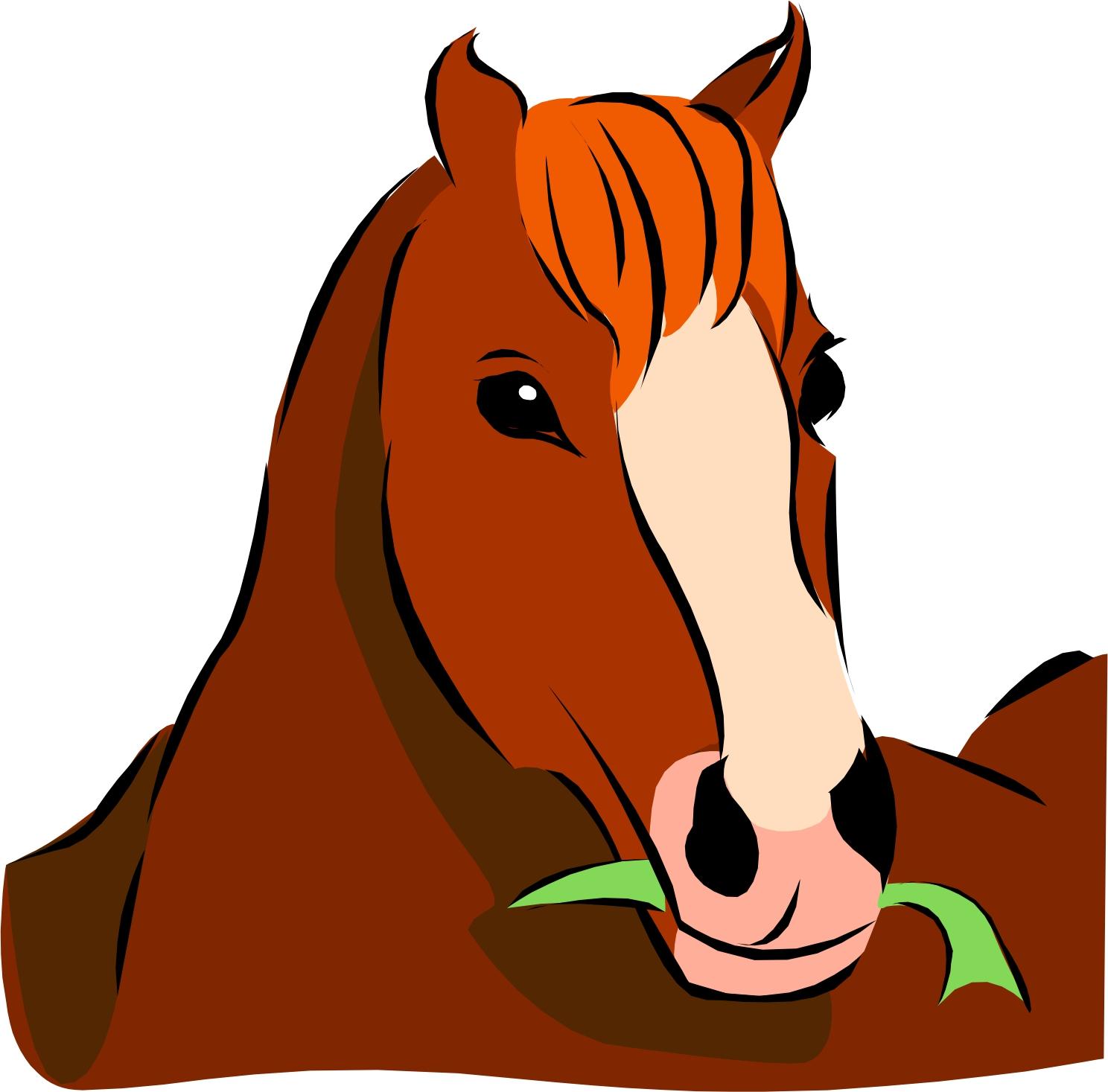 Cartoon Horses Head Clipart.