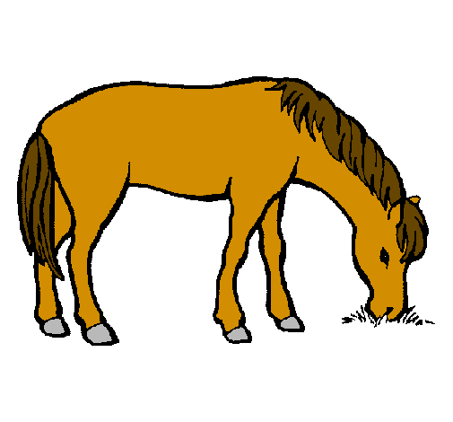 Horse Eating Clipart.