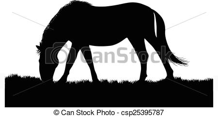 Vector of horse silhouette.