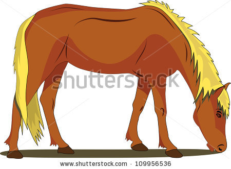 Horse Eating Stock Vectors, Images & Vector Art.