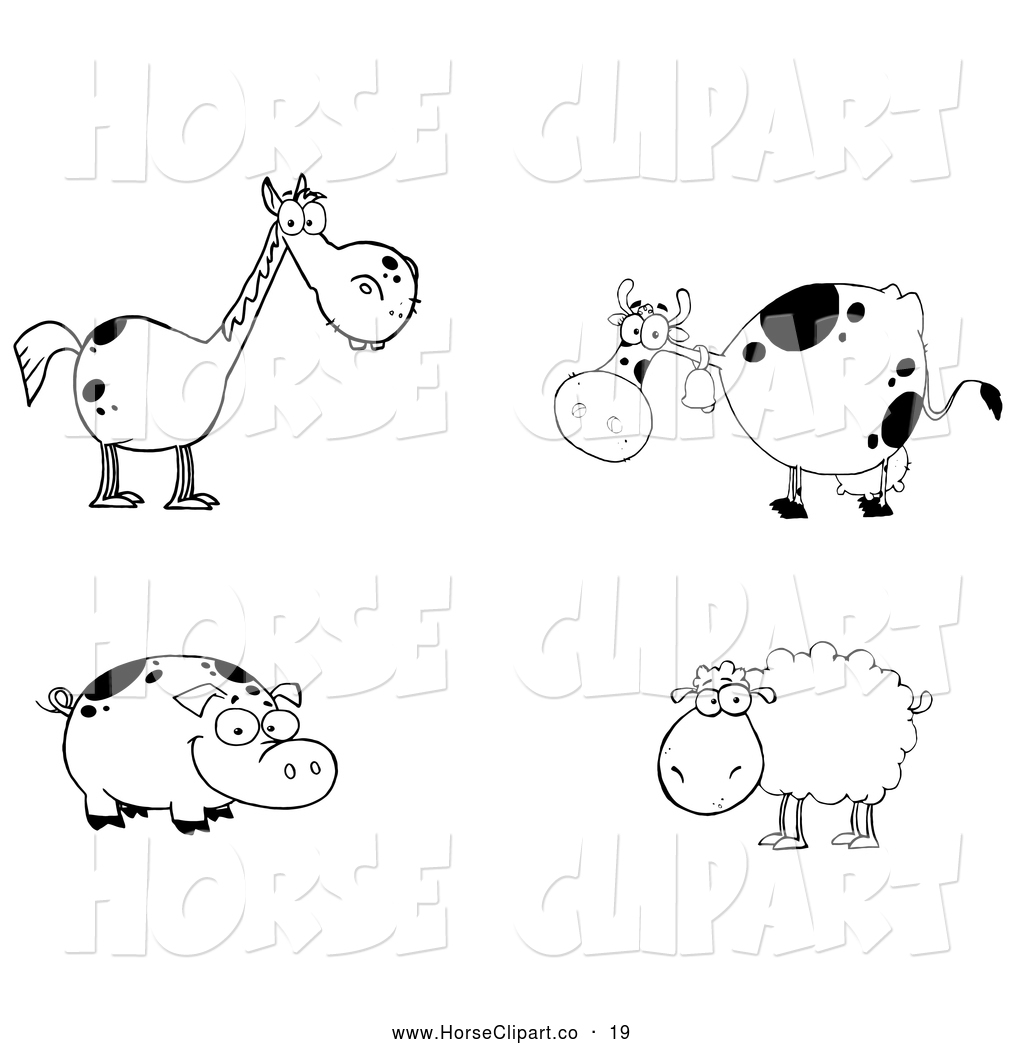 Cute animal clipart horse.