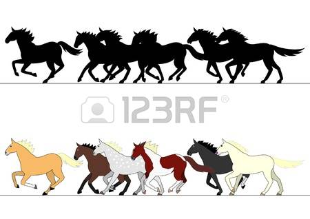 Horse Group Clipart Clipground