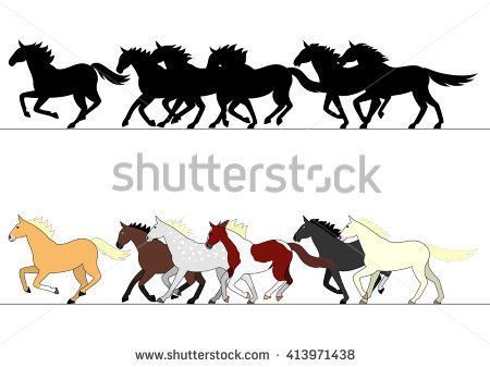 Horses Running Stock Images, Royalty.
