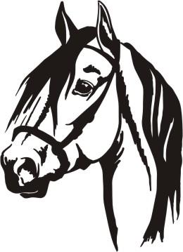 Horse head silhouette clip art free.
