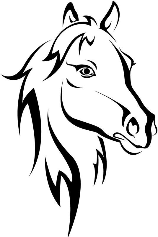 Horse head clipart black and white 5 » Clipart Station.