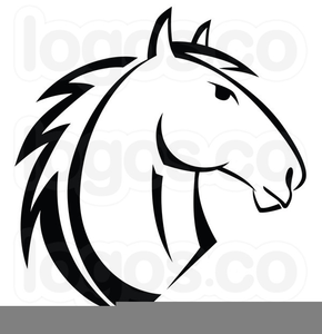 Horse Head Outline Clipart.
