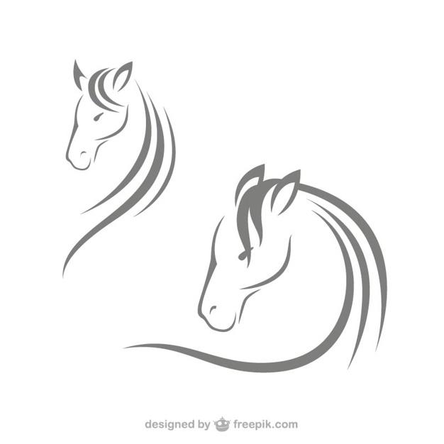 Horse head logos Vector.