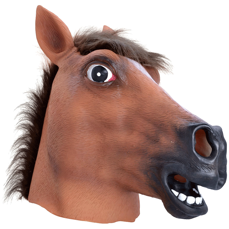 Brown Horse Mask transparent PNG.
