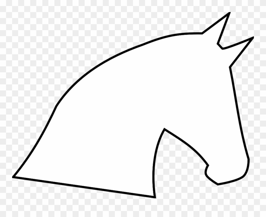 Animals Horse Head Outline Profile.