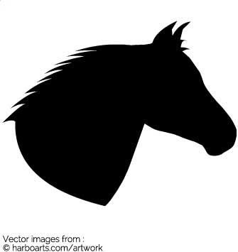 Download : Horses head silhouette.