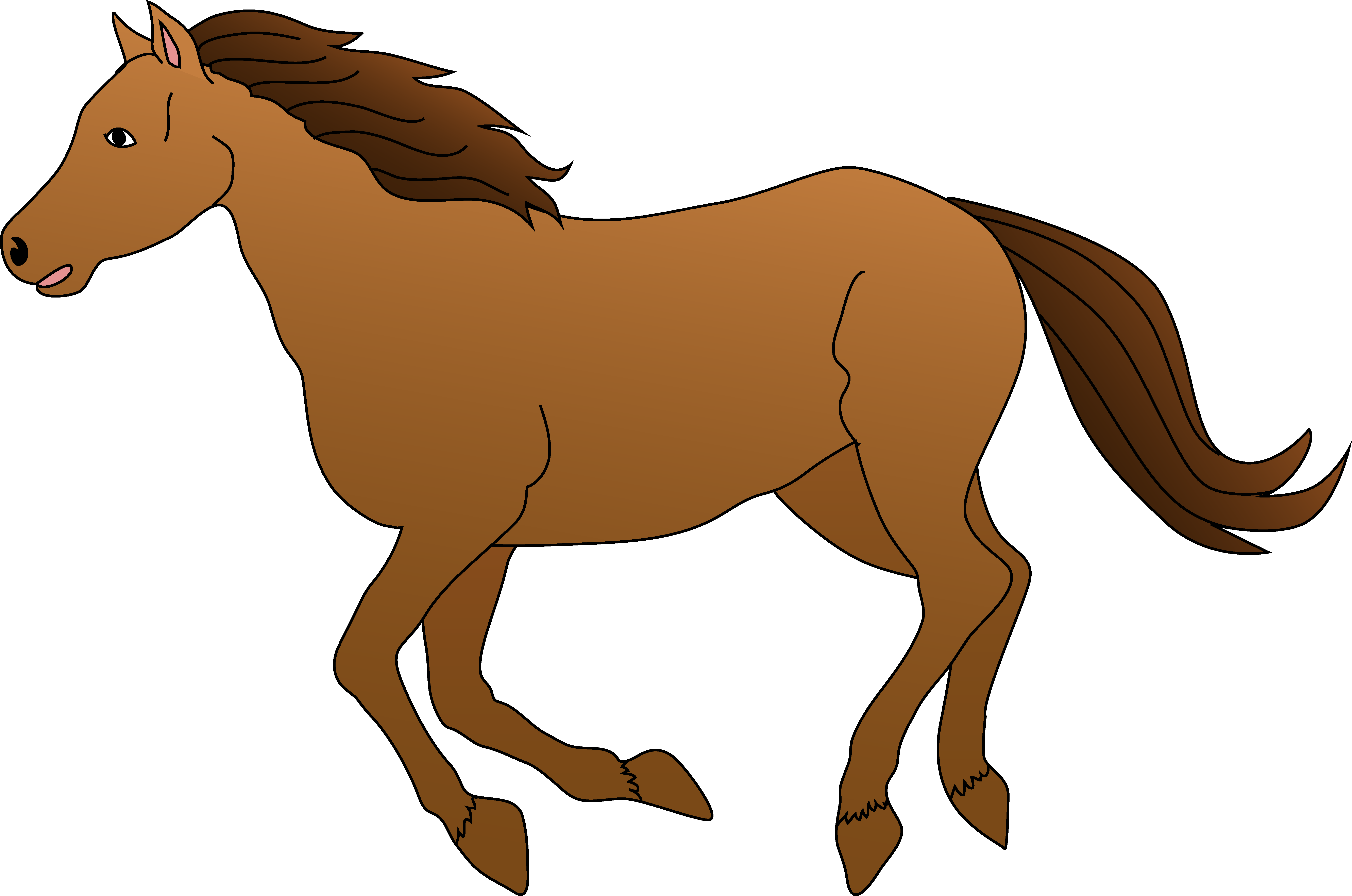 20549 Horse free clipart.
