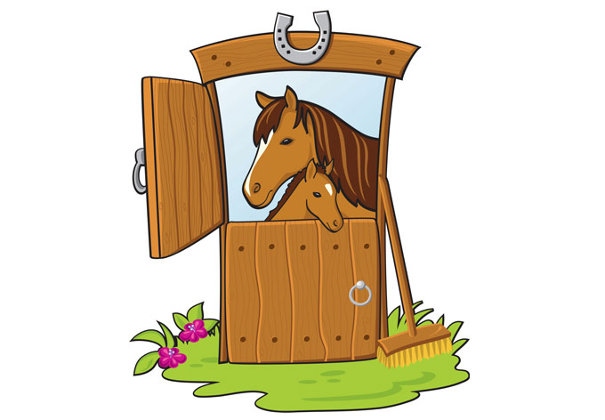 Horse Stable Wall Sticker.