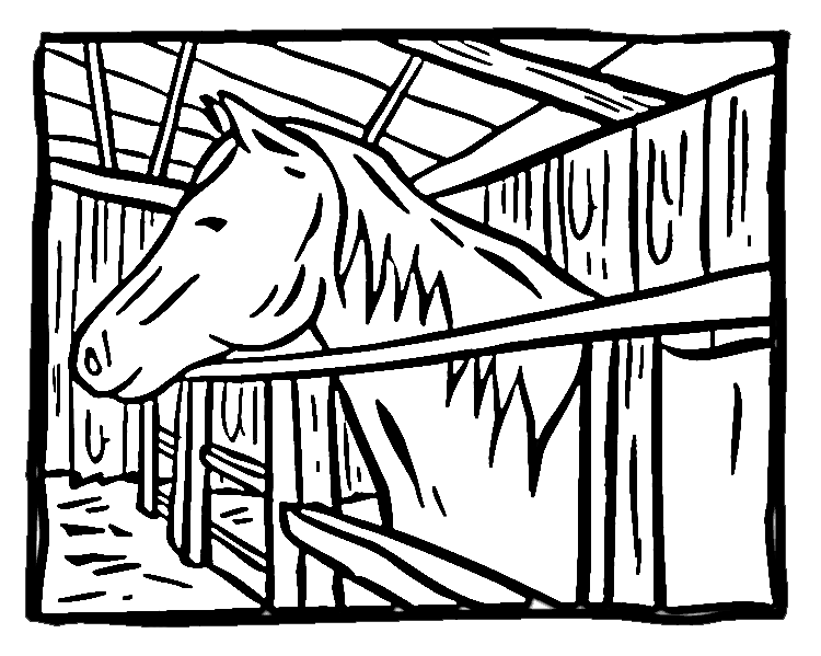 Horse Stall Cartoon Related Keywords & Suggestions.