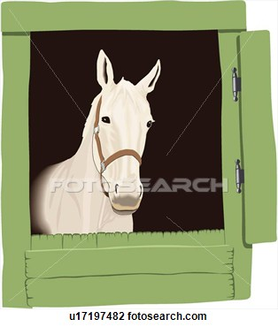 Horse stable clipart.