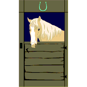 Horse in Stall clipart, cliparts of Horse in Stall free download.