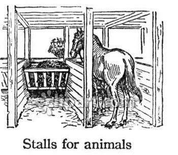 Horse stable clip art.