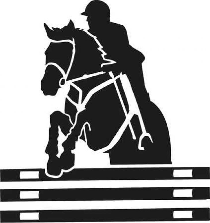 horse jumping images clip art.