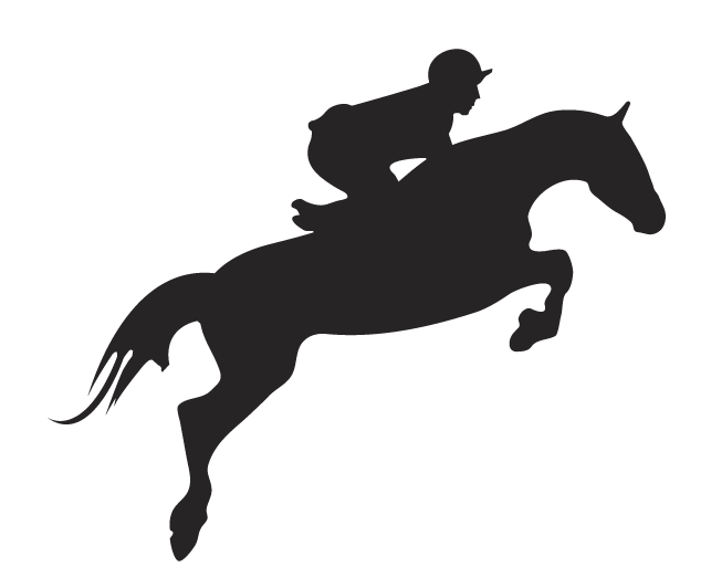 Clipart Jumping Horse And Jockey In Horse Jumping Vector.
