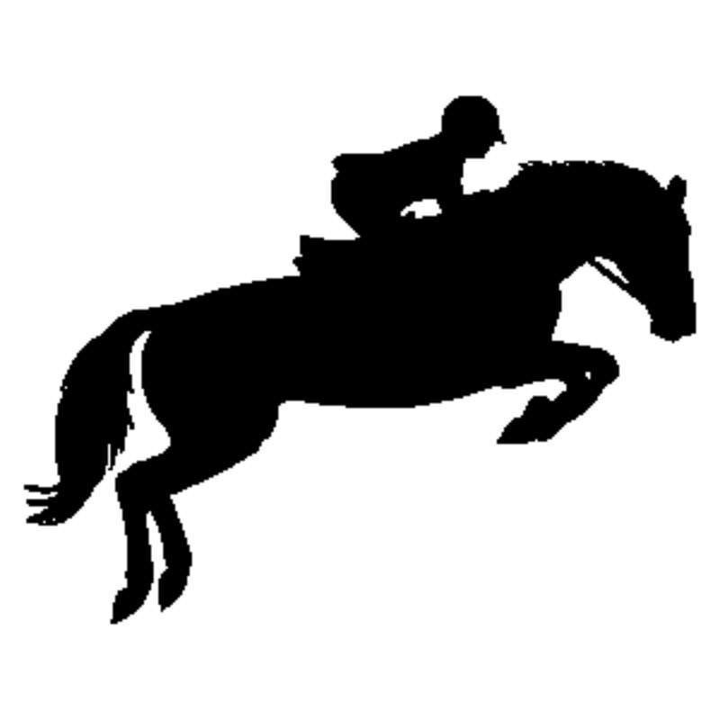 Horse Jumping Silhouette.