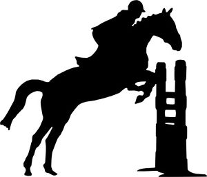 Show Jumping Horse Silhouette.