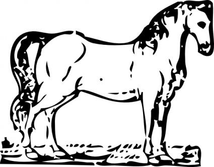 Horse Kicking 1 Free Vector / 4Vector.