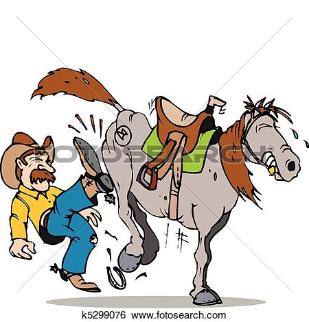 Clip Art of kick start horse k5299076.