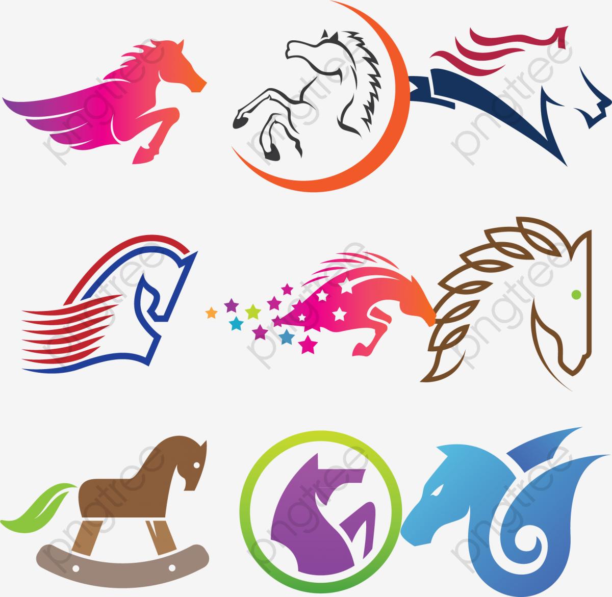 Creative Vector Horse Logo Design, Logo Design, Flag Icon, Cartoon.