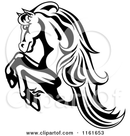 Clipart Horse Head Logo In Black And White 7.