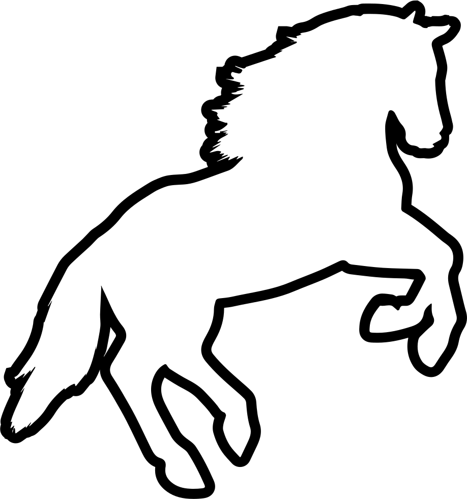 Horse Jumping Outline Variant Svg Png Icon Free Download (#73229.