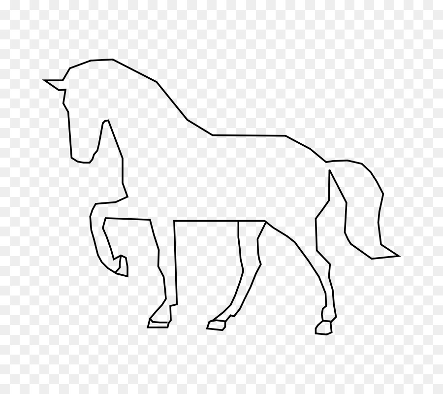 Horse Pony Silhouette Clip art.
