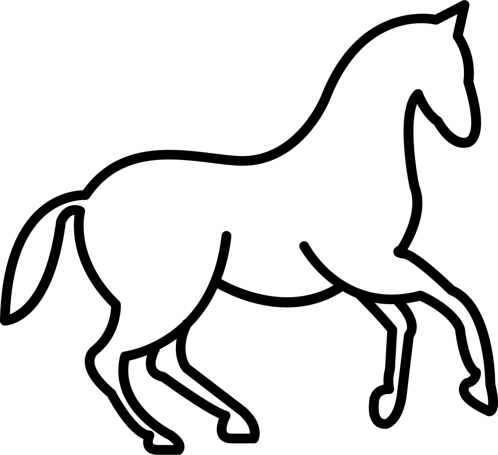 Dancing Horse Outline Svg Png Icon Free Download (#30035.