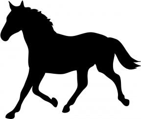 Horse Pen Silhouette Clipart.