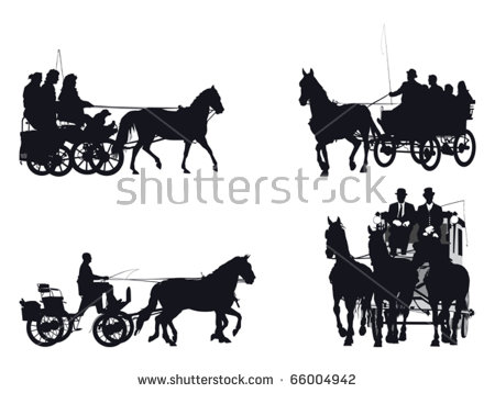 Horse Chariot Stock Images, Royalty.