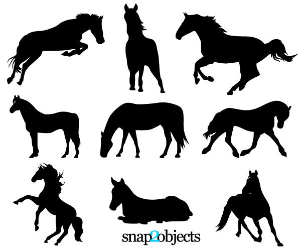 running horse silhouette.