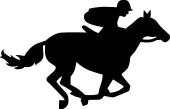 Horse race clipart.