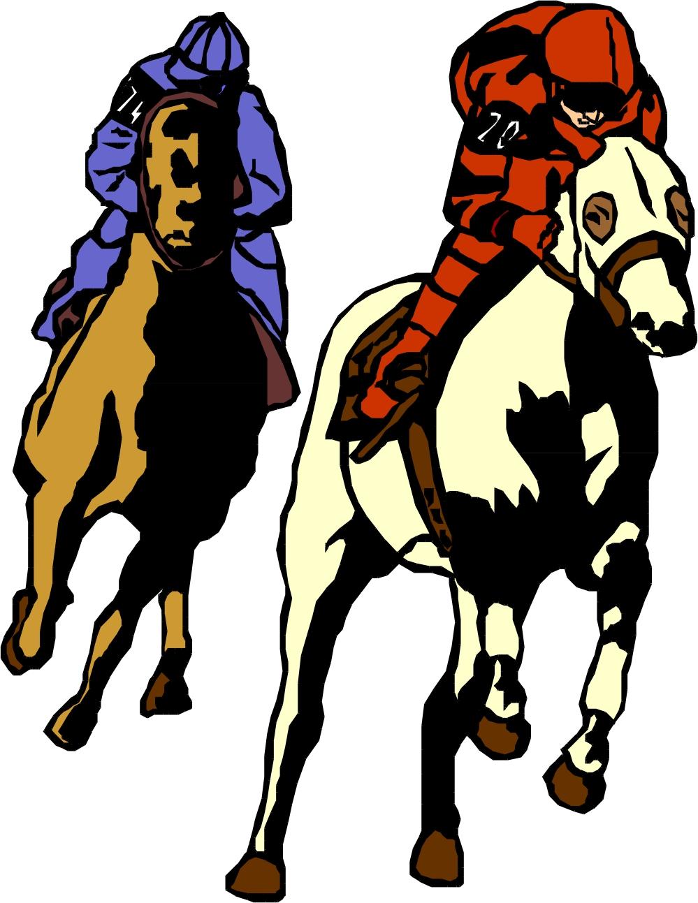 Horse racing clip art free.