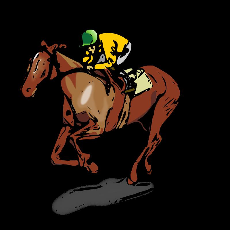 Horse Racing Borders Clipart.