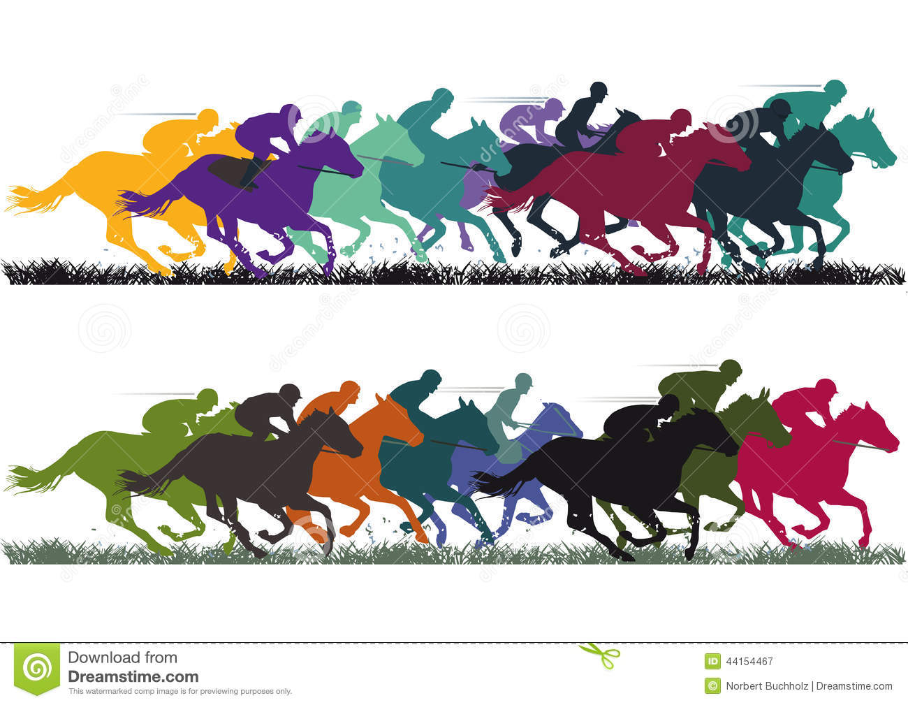 Horse Racing Stock Illustrations.