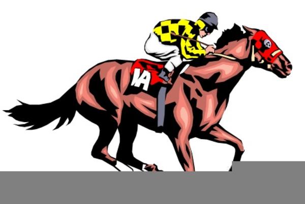 Horse Races Clipart.