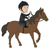 Horseback riding Clipart and Illustration. 2,486 horseback riding.