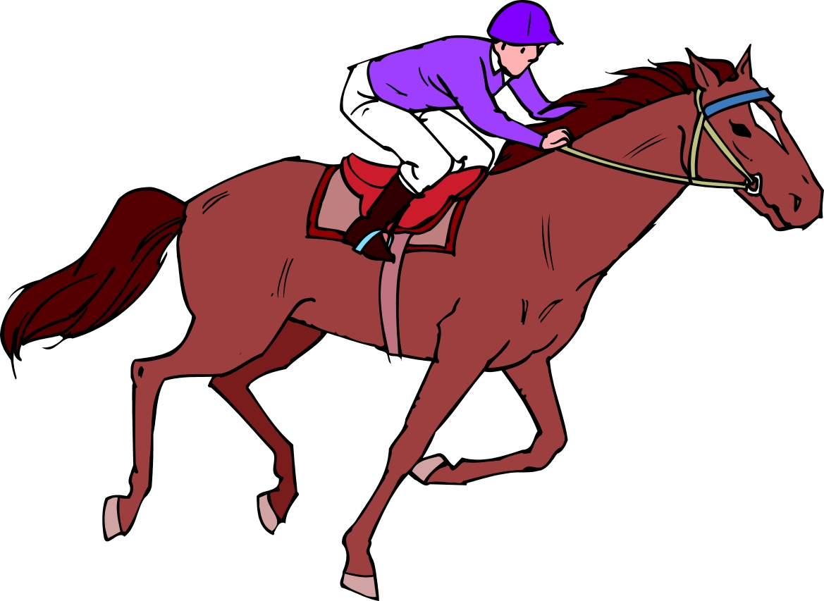 Horse riding clipart #1