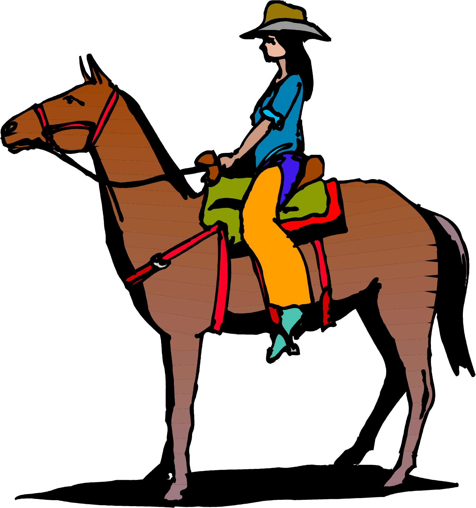 Horse riding clipart #17