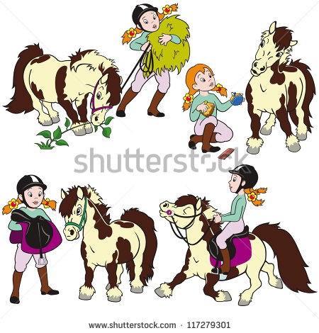 Pony Riding Stock Vectors, Images & Vector Art.