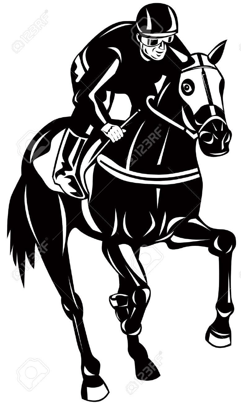 Horse Racing Royalty Free Cliparts, Vectors, And Stock.