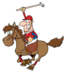 Funny Horse Riding Clipart.